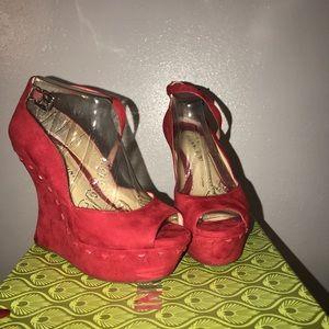 Red Giainni Bini heels